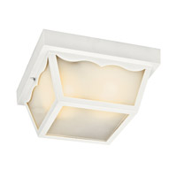 Kichler Lighting Signature 1 Light Fluorescent Outdoor Ceiling in White 11026WH