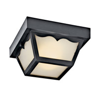 Kichler Lighting Signature 2 Light Fluorescent Outdoor Ceiling in Black (Painted) 11027BK