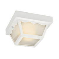 Kichler Lighting Signature 2 Light Fluorescent Outdoor Ceiling in White 11027WH photo thumbnail