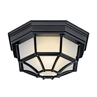 Kichler Lighting Signature 1 Light Fluorescent Outdoor Ceiling in Black (Painted) 11028BK