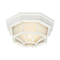 Kichler Lighting Signature 1 Light Fluorescent Outdoor Ceiling in White 11028WH photo thumbnail