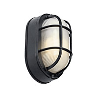 Kichler Lighting Signature 1 Light Fluorescent Outdoor Wall Lantern in Black 11029BK photo thumbnail