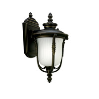 Kichler Lighting Luverne 1 Light Fluorescent Outdoor Wall Lantern in Rubbed Bronze 11030RZ