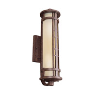 Kichler Lighting Aged Prairie 2 Light Fluorescent Outdoor Wall Lantern in Aged Bronze 11038AGZ photo thumbnail