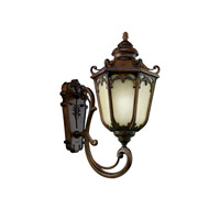 Kichler Lighting McCullam 1 Light Fluorescent Outdoor Wall Lantern in Brown Stone 11049BST photo thumbnail