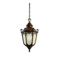 Kichler Lighting McCullam 1 Light Fluorescent Outdoor Ceiling in Brown Stone 11050BST photo thumbnail