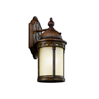 Kichler Lighting Corunna 1 Light Fluorescent Outdoor Wall Lantern in Brown Stone 11053BST