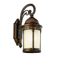 Kichler Lighting Corunna 1 Light Fluorescent Outdoor Wall Lantern in Brown Stone 11054BST photo thumbnail