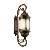 Kichler Lighting Corunna 1 Light Fluorescent Outdoor Wall Lantern in Brown Stone 11056BST photo thumbnail
