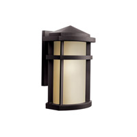 Kichler Lighting Lantana 1 Light Fluorescent Outdoor Wall Light in Architectural Bronze 11068AZ