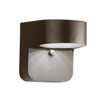 Kichler Lighting Signature LED Small Outdoor Wall Lantern in Textured Architectural Bronze 11077AZT