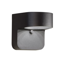 Signature LED 6 inch Textured Black Outdoor Wall Lantern