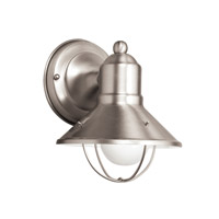 Kichler Lighting Signature 1 Light Fluorescent Outdoor Wall Lantern in Brushed Nickel 11094NI photo thumbnail