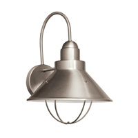 Kichler Lighting Seaside 1 Light Fluorescent Outdoor Wall Lantern in Brushed Nickel 11099NI