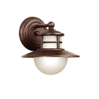 Kichler Lighting Menlo 1 Light Fluorescent Outdoor Wall Lantern in Aged Bronze 11106AGZ