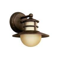 Kichler Lighting Menlo 1 Light Fluorescent Outdoor Wall Lantern in Aged Bronze 11107AGZ