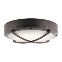 Kichler 11135AZTLED Signature LED 4 inch Textured Architectural Bronze Outdoor Wall Light