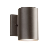 Signature LED 7 inch Textured Architectural Bronze Small Outdoor Wall
