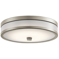 Kichler 11302NILED Pira LED 12 inch Brushed Nickel Flush Mount Ceiling Light