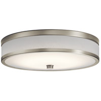 Kichler 11303NILED Pira LED 15 inch Brushed Nickel Flush Mount Ceiling Light