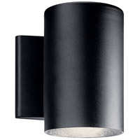 Kichler 11309BKTLED Signature LED 7 inch Textured Black Outdoor Wall Light, Small