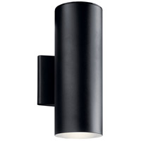 Kichler 11310BKTLED Signature LED 12 inch Textured Black Outdoor Wall Light, Medium
