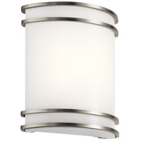 Kichler 11319NILED Signature LED 10 inch Brushed Nickel Wall Sconce Wall Light