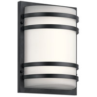 Signature LED 13 inch Textured Black Outdoor Wall Light, Medium