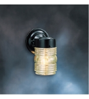 Kichler Lighting Signature 1 Light Outdoor Wall Lantern in Black 1148BK