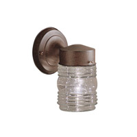 Signature 1 Light 8 inch Tannery Bronze Outdoor Wall Lantern
