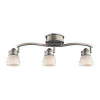 Kichler Lighting Ceiling Space 1 Light Flush Mount in Brushed Nickel 206NI alternative photo thumbnail