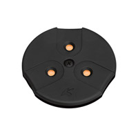 Modular LED LED 3 inch Black Puck Light in 3000K