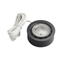 Kichler Lighting Puck Light 12v Xenon Cabinet Disc/Puck Light in Black (Painted) 12501BK