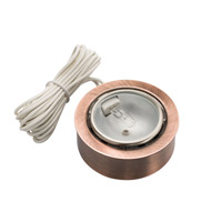 Kichler Lighting Puck Light 12v Xenon Cabinet Disc/Puck Light in Copper 12501CO