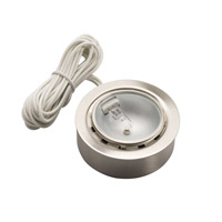 Kichler Lighting Puck Light 12v Xenon Cabinet Disc/Puck Light in Brushed Nickel 12501NI
