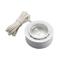 Kichler Lighting Puck Light 12v Xenon Cabinet Disc/Puck Light in White 12501WH
