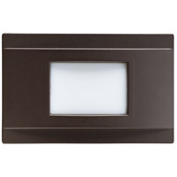 Kichler 12675AZ Step and Hall Light 120V 1.38 watt Architectural Bronze Steplight, LED, 5 inch