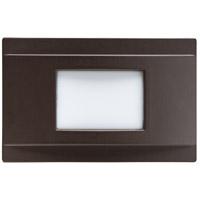 Kichler 12675AZ Step and Hall Light 120V 1.38 watt Architectural Bronze Steplight LED 5 inch