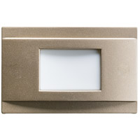 Kichler Step and Hall Light LED Steplight in Brushed Nickel 12675NI