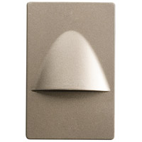 Kichler 12677NI Step and Hall Light 120V 1.29 watt Brushed Nickel Steplight, LED, 5 inch