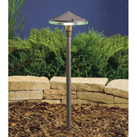 Kichler Lighting Outdoor Low Volt 1 Light Landscape 12V Path & Spread in Textured Architectural Bronze 15317AZT
