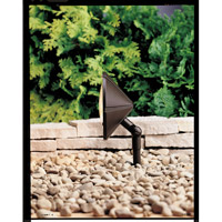 Kichler Lighting Six Groove 1 Light Landscape 12V Wall Wash in Textured Architectural Bronze 15361AZT
