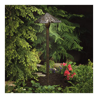 Kichler Lighting Pierced Pyramid head path light Landscape 12V Path & Spread in Textured Tannery Bronze 15437TZT