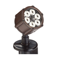 Kichler Lighting Accent LED 8.5W 60 deg wide Landscape 12V LED Accent in Bronzed Brass 15743BBR photo thumbnail