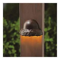 Kichler 15750TZT30R Signature 15V 2.5 watt Textured Tannery Bronze Deck Light in 3000K, 1.75 inch