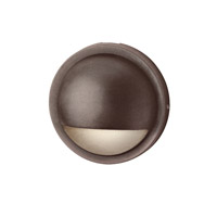Signature 15V 2.5 watt Bronzed Brass Deck Light in 2700K, Half Moon