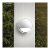 Kichler Lighting Half Moon LED Deck Light Landscape 12V LED Deck in White 15764WHT photo thumbnail