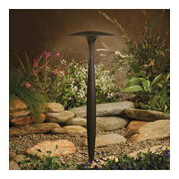 Kichler 15833AZT27R Signature 4 watt Textured Architectural Bronze LED Broad Roof Path Light in 2700K