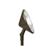 Kichler Landscape LED 3 Light Landscape 12V LED Wall Wash in Textured Architectural Bronze 15861AZT27