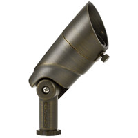 Kichler 16017CBR30 VLO 12V 8 watt Centennial Brass Landscape Accent, 60 Degree Wide Flood with Variable Lumen Output